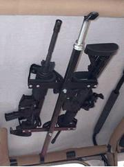 quick draw overhead gun rack for