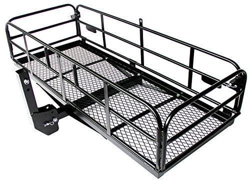 car truck exterior parts multifunctional folding hitch mount cargo carrier mounted basket luggage rack phlox pro