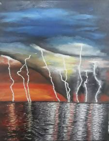 Lightning Painting by Heba Hassan   Saatchi Art