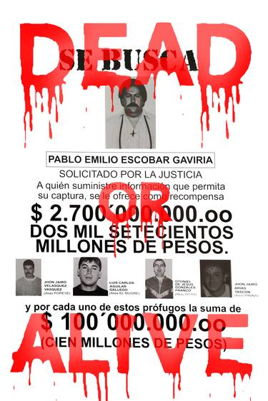 pablo escobar s wanted limited edition 1 of 5 art print