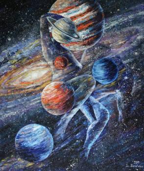 universe Painting by Ia Saralidze | Saatchi Art