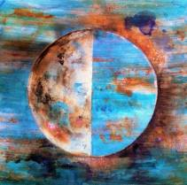 Howl at the Moon Moon Phase Study | First Quarter No. 2 Painting by Carmen  Larsen | Saatchi Art