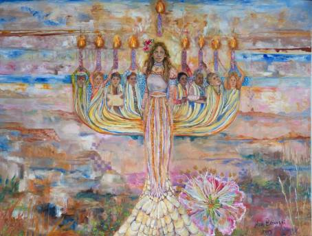 Image result for menorah painting