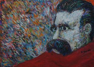 Friedrich nietzsche Painting by Richio Galvez | Saatchi Art