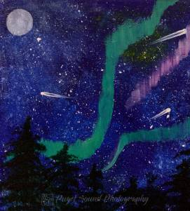 Image result for night sky painting