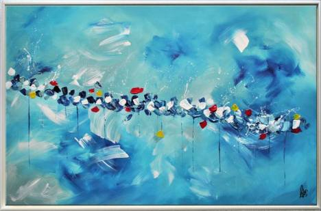 Funny Spring - Abstract Art - Acrylic Painting - Canvas Art - Framed  Painting - Abstract Painting - Ready to Hang Painting by Edelgard Schroer |  Saatchi Art