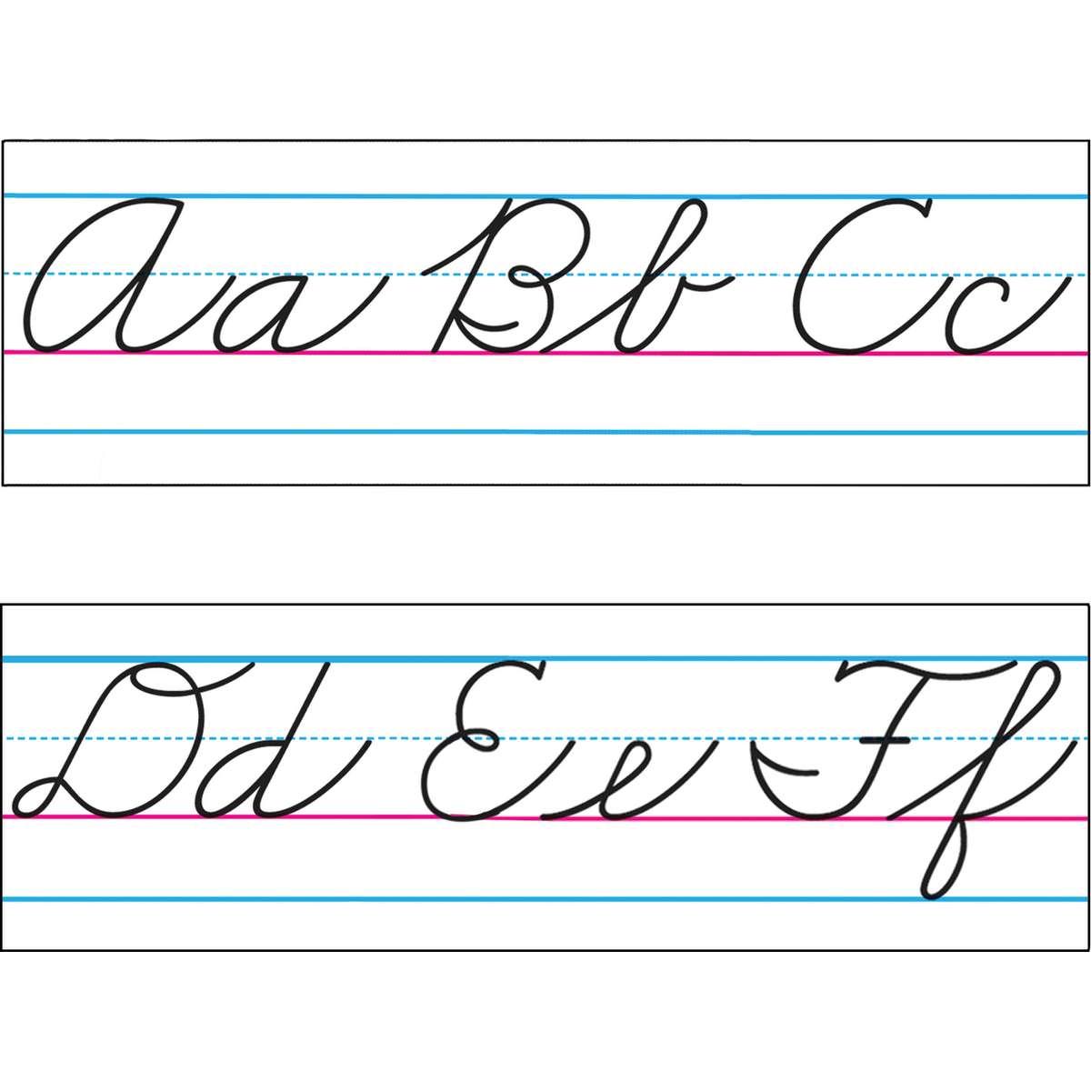 Zaner Bloser Basic Cursive Alphabet Amp Number Line