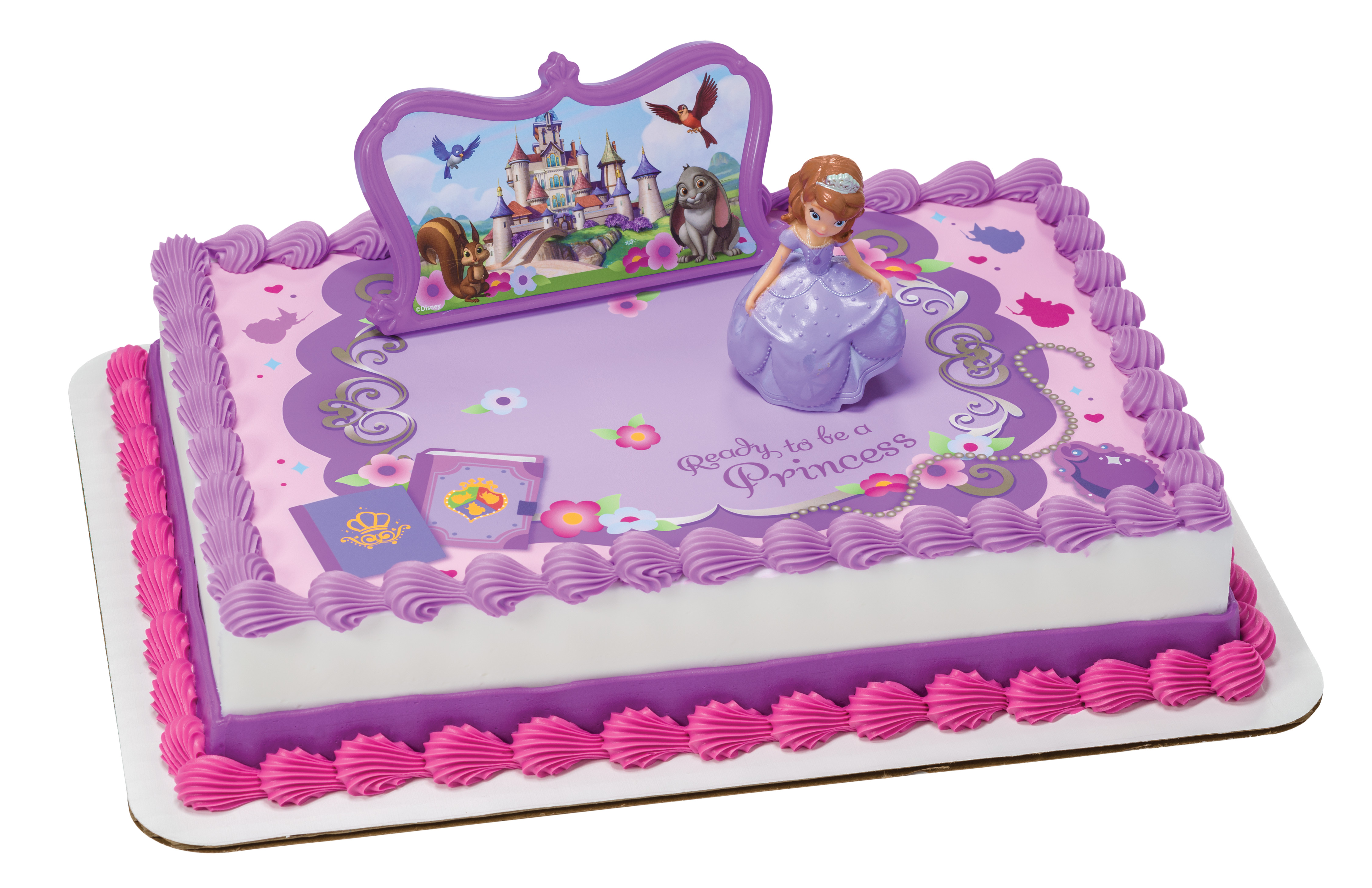 Sofia The First Sofia And Castle PhotoCake Edible Image