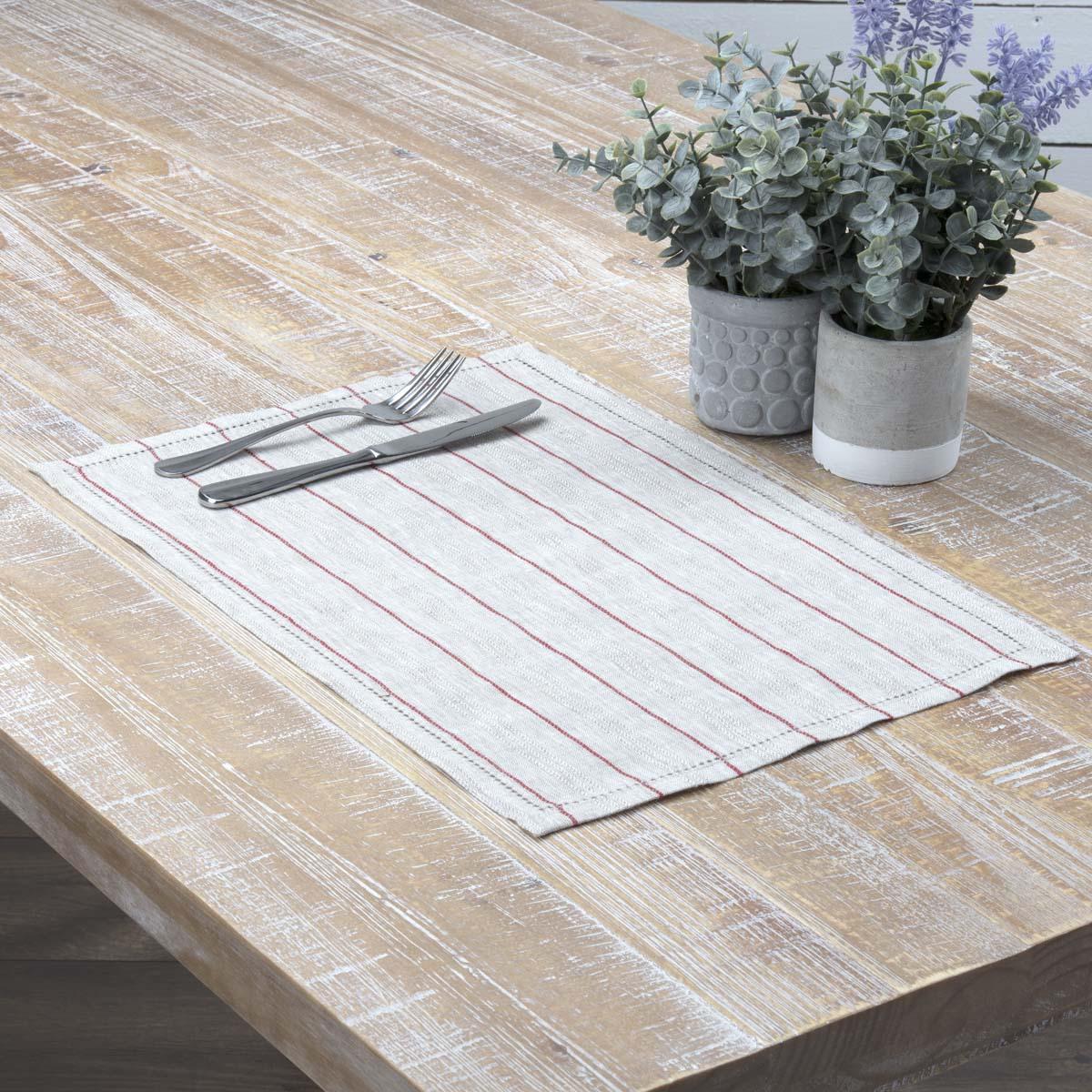 vhc farmhouse placemat set of 6 table mats linen white on farmhouse colors for bath mats walmart id=36075