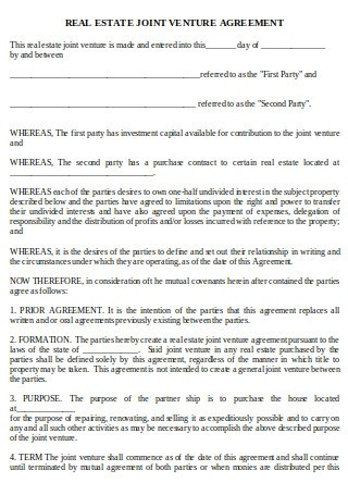Both parties would agree on the terms and rules of the joint venture agreement and once the project or activity is done, the joint venture ends as well. 22 Sample Joint Venture Agreements In Pdf Ms Word
