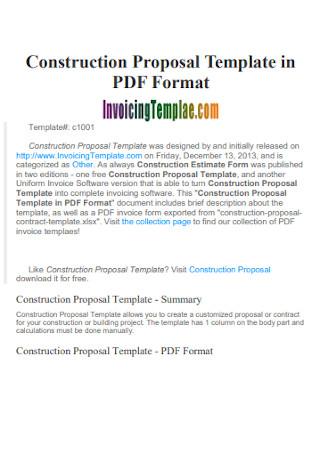 04/08/2018· download construction proposal templates. 20 Sample Construction Proposals In Pdf Ms Word