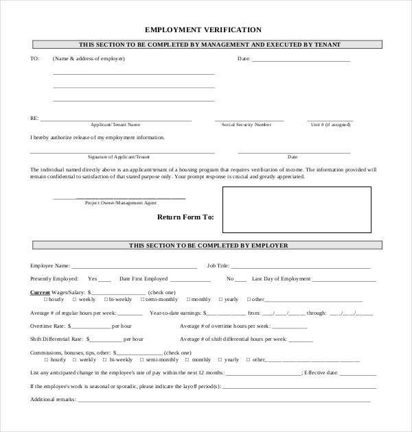 Perfect Champlain College Publishing Inside Prior Employment Verification Form