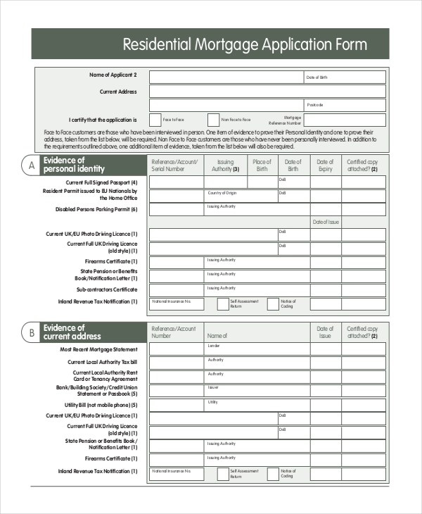 Mortgage applications are used by one or more parties to borrow money in order to purchase a home, vacant land or other real estate. Free 10 Sample Mortgage Application Forms In Ms Word Pdf