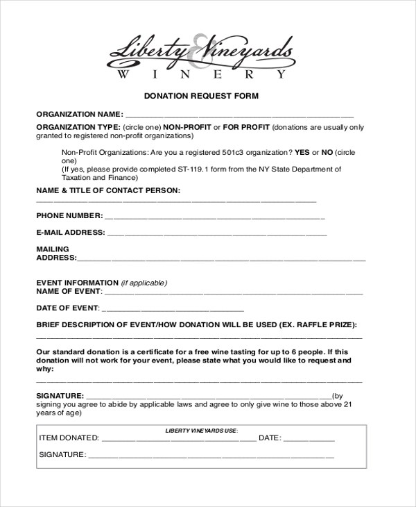 Sample Letter Request Forms