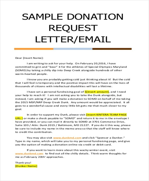 how to write a letter for donations Directly asking people for donations, is not only the most efficient method of  fundraising, it is also one  use this sample solicitation letter for an individual  as a.