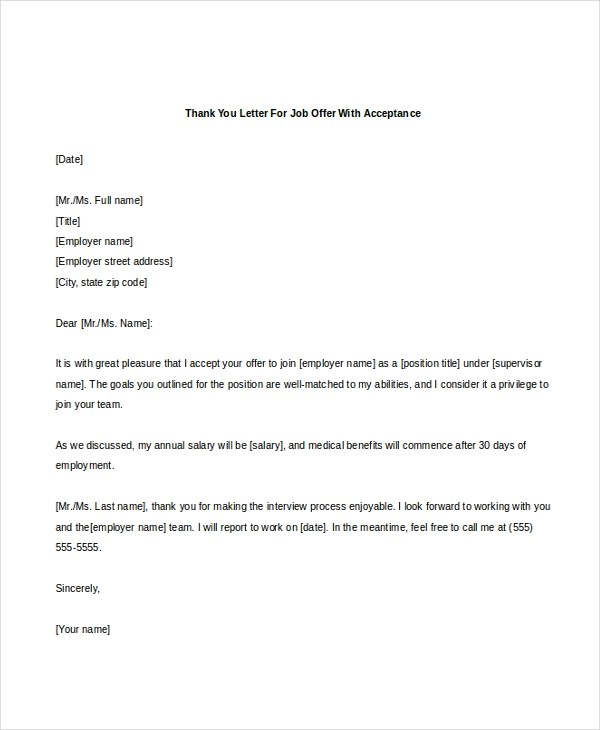 Sample Salary Negotiation Letter After Job Offer  Docoments Ojazlink