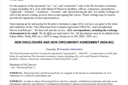 Best Free Templates Non Disclosure Statement Sample And - Non disclosure non circumvention agreement template