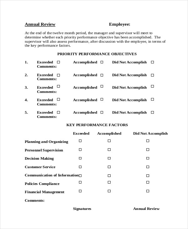 Self Appraisal Improvement Areas