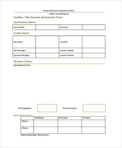 This taccp risk assessment template can be used to identify critical points in food production that are at risk to threats. Free 7 Sample Security Risk Assessment Forms In Pdf Ms Word
