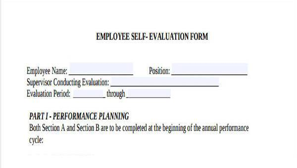 It is therefore imperative that an employee takes … Free 8 Employee Self Evaluation Forms In Pdf Ms Word Excel