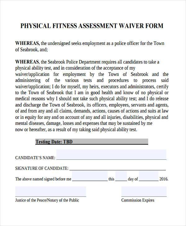 Cool Gym Waiver Form Template Ideas   Example Business Resume .