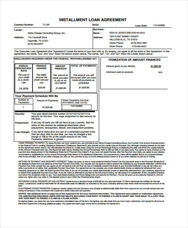 The borrower and lender must both sign the agreement; Free 65 Loan Agreement Form Example In Pdf Ms Word