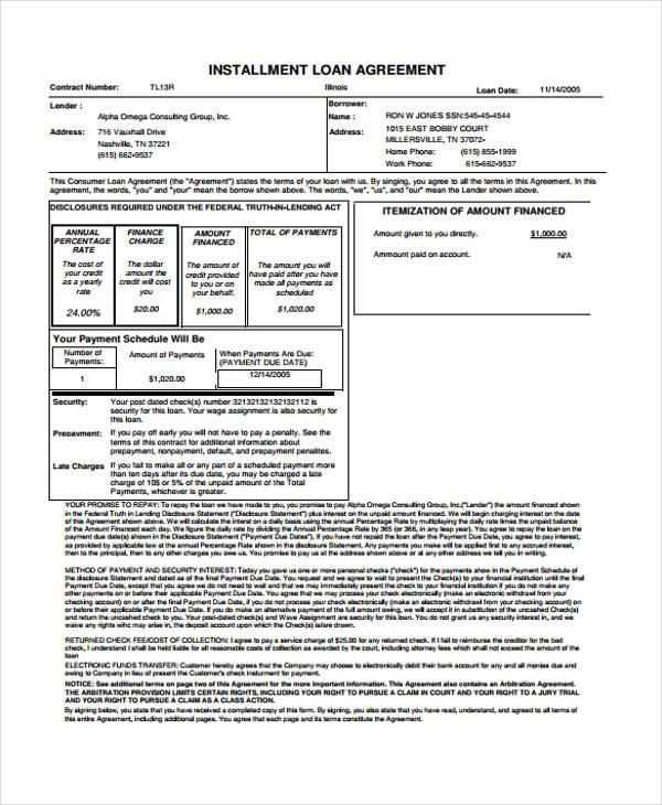 Champlain College Publishing  Consumer Loan Agreement