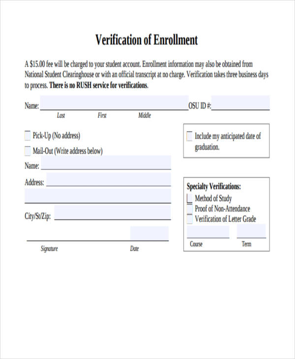 Rental Verification Letter