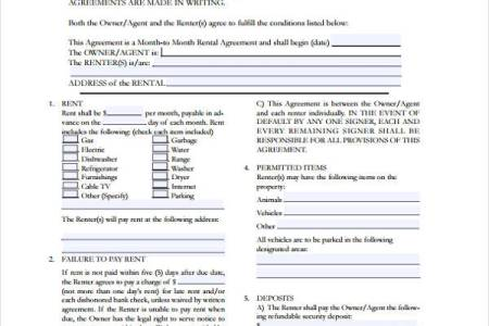 Best Free Fillable Forms Month To Month Room Rental Agreement Form