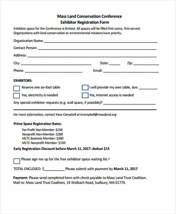 Sample Event Planning Forms
