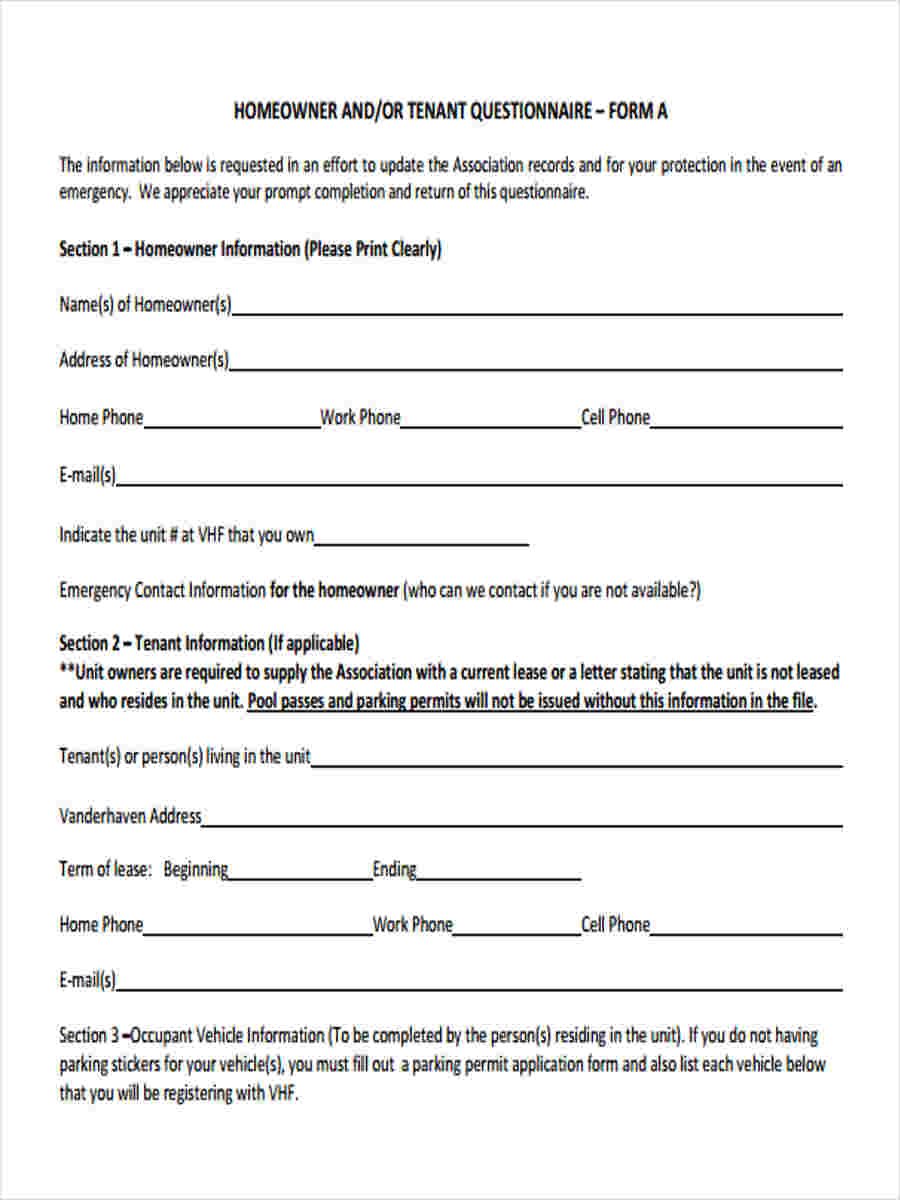 Update Information Contact Template Form