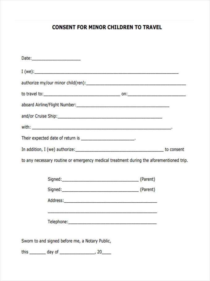 Do i need a notarized letter to travel with child mexico 2017 free child travel consent form template toma daretodonate co thecheapjerseys Choice Image