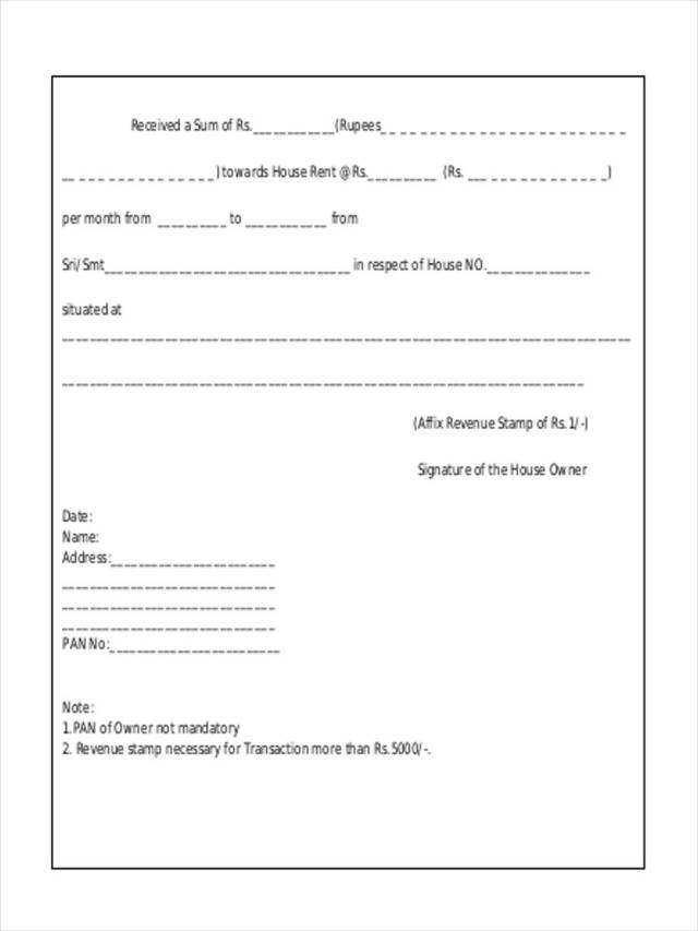 FREE 24+ Rent Receipt Forms in PDF