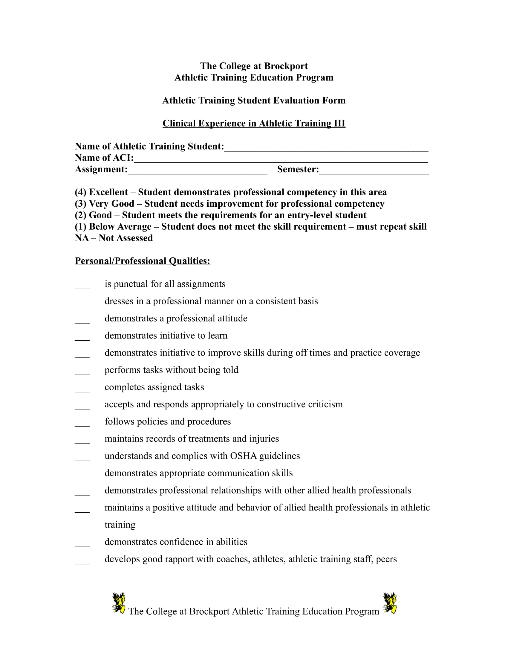 Free 5 Varieties Of Sports Evaluation Forms In