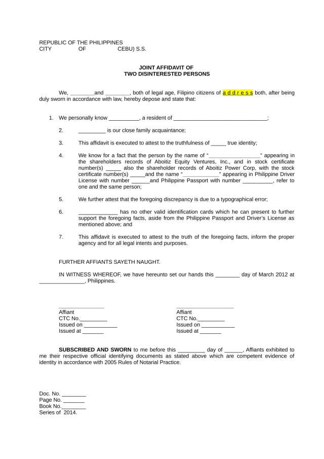 FREE 28+ Sample Affidavit Forms in PDF  MS Word  Excel