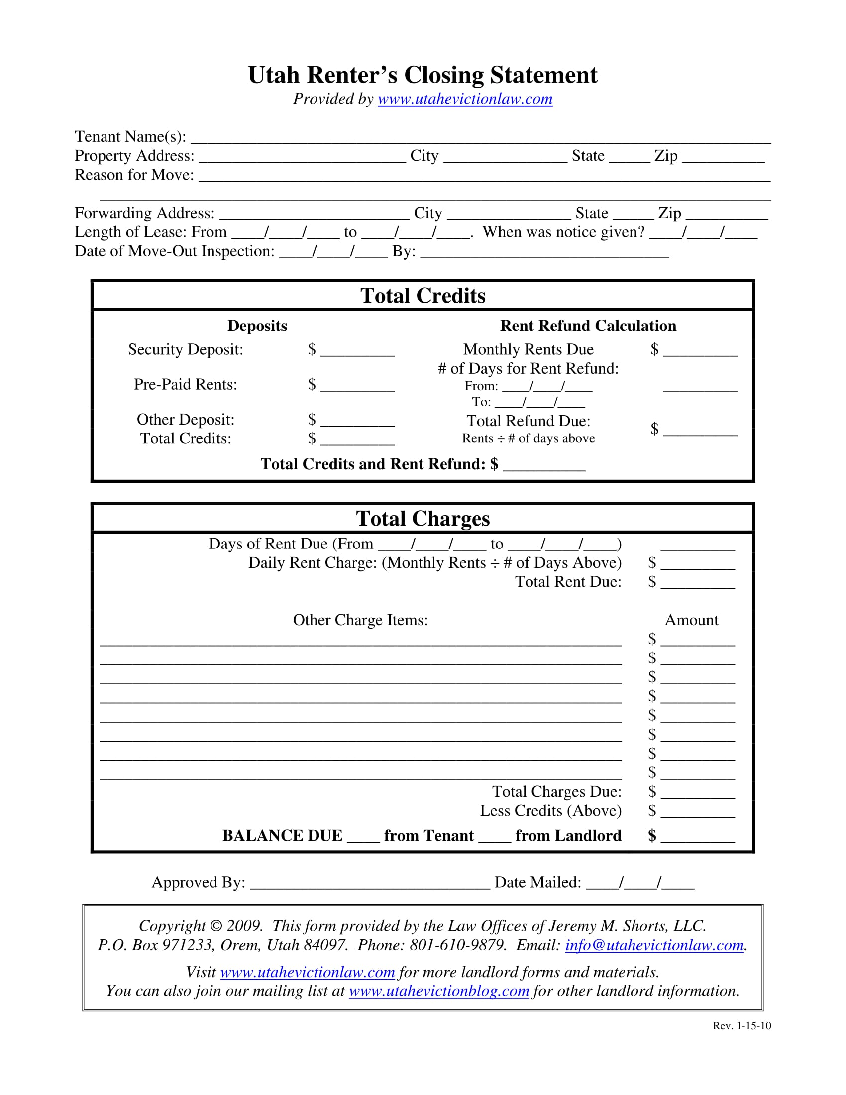 Free 14 Closing Statement Forms In