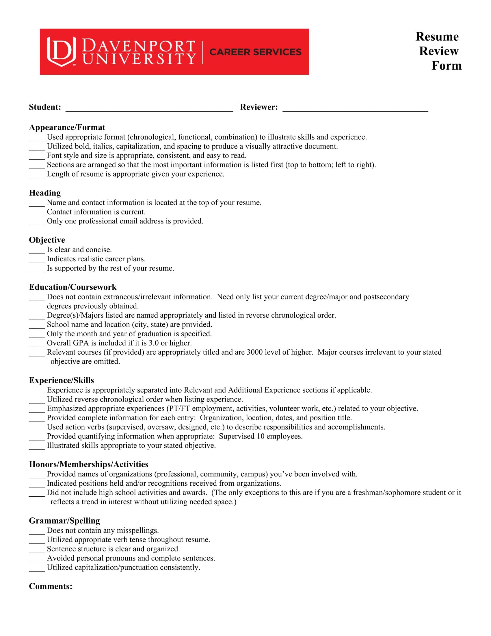 Pretty Employer Resume Checklist Photos - Entry Level Resume ...