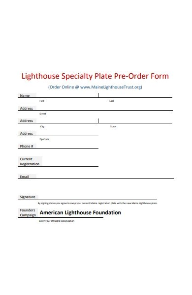 18/01/2019· use this template for either a sales invoice or order form. Free 51 Pre Order Forms In Pdf Ms Word Excel