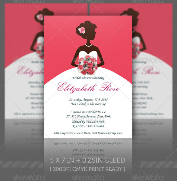 Bridal Shower Invitations Umbrella Theme