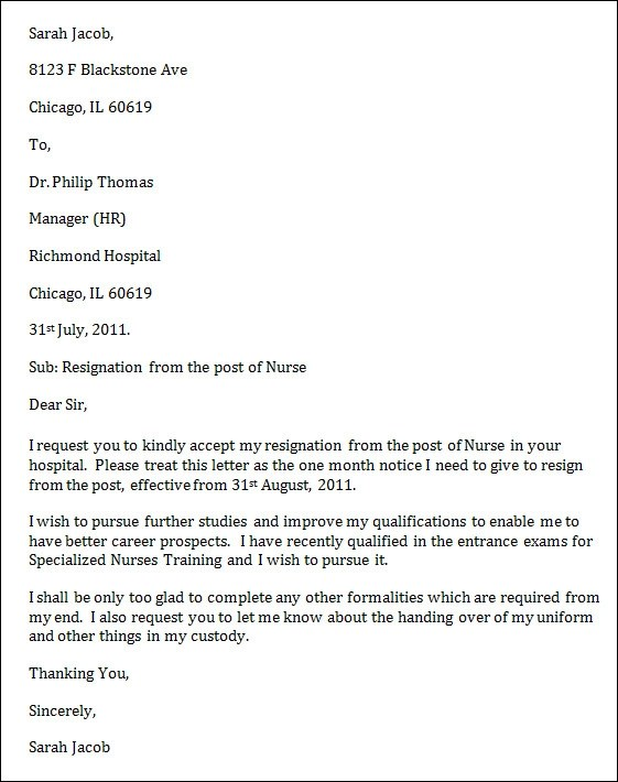 how to write a nursing resignation letter samples how to