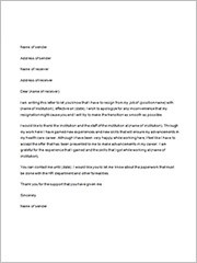 Resignation Letters - 35+ Download free Documents in Word ...