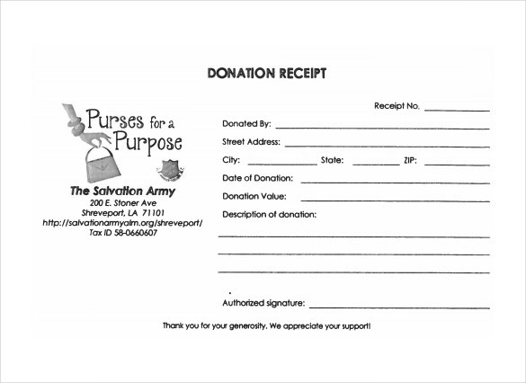 FREE 20 Donation Receipt Templates In PDF Google Docs Google Sheets MS Excel MS Word