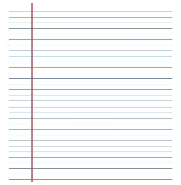 word lined paper template