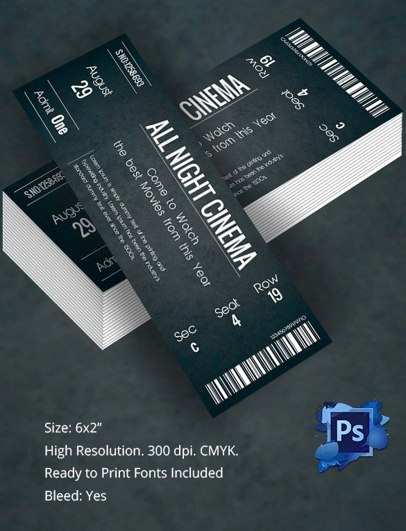 Ticket Template 23 Download Documents In PDF PSD