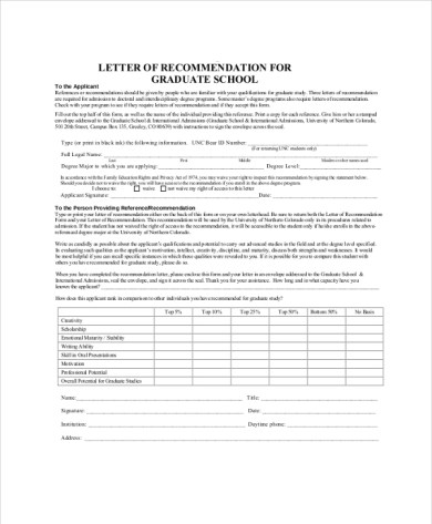 How To Write A Letter Of Recommendation For Admission Graduate     Example Recommendation Letter Of For