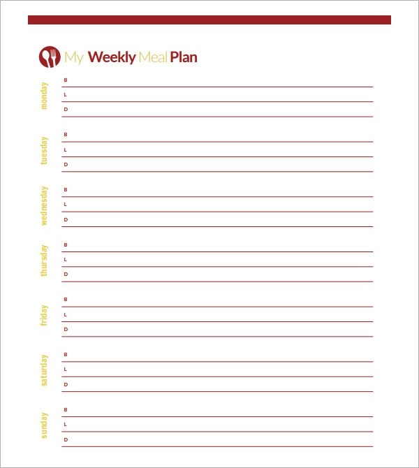 Meal Planning Template 17Download Free Documents In PDF Excel