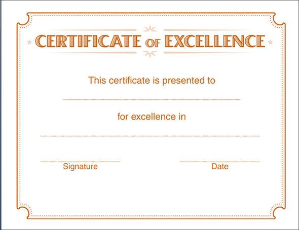 Winner Certificate Printable