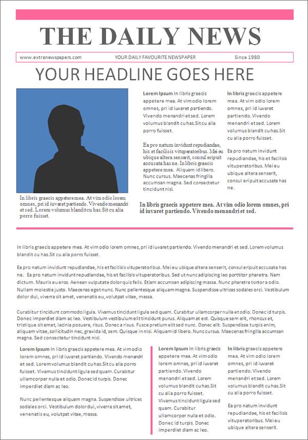42 Amazing Newspaper Templates Sample Templates