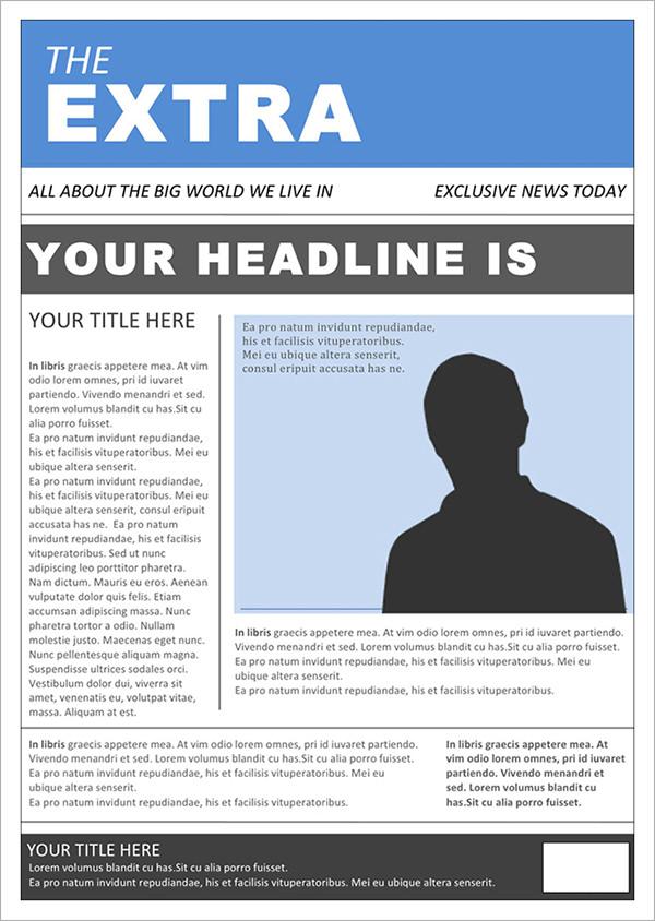 53 Amazing Newspaper Templates PDF PPT Word PSD