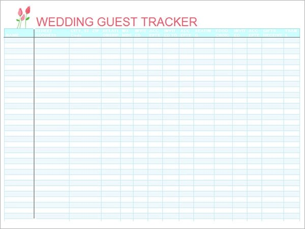 Wedding Invite List – Free Wedding Guest List Template